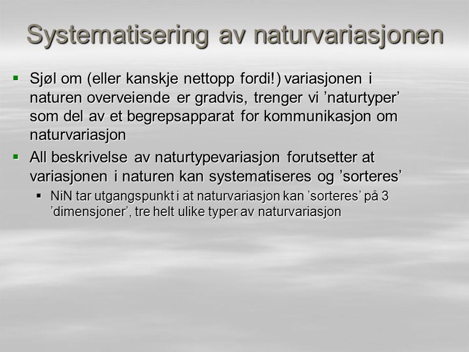 Systematisering av naturvariasjonen