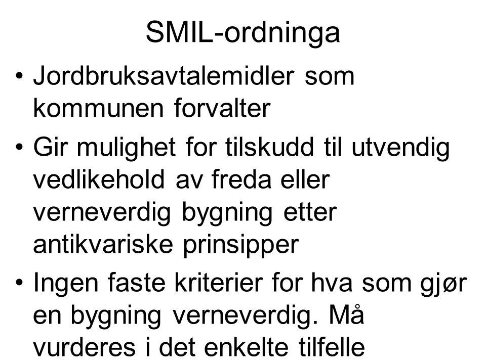 SMIL-ordninga Jordbruksavtalemidler som kommunen forvalter