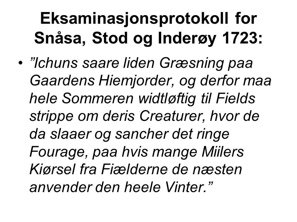 Eksaminasjonsprotokoll for Snåsa, Stod og Inderøy 1723: