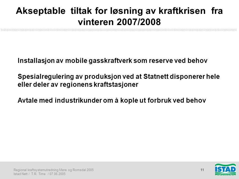 Akseptable tiltak for løsning av kraftkrisen fra vinteren 2007/2008