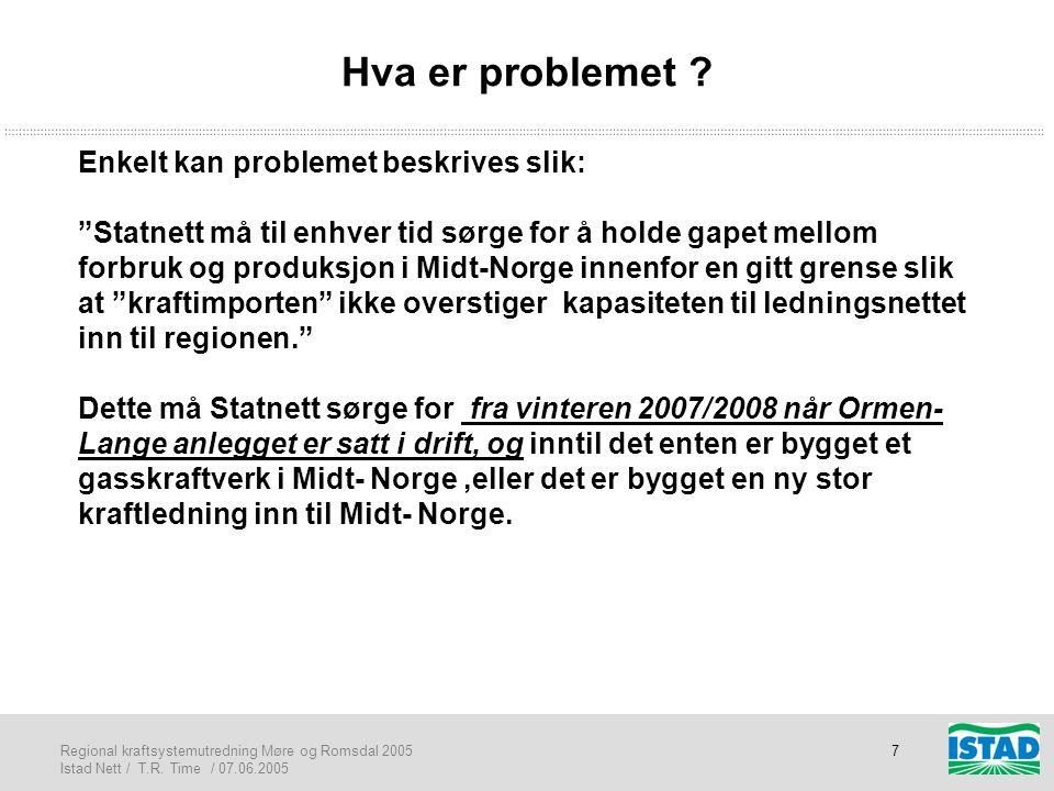 Hva er problemet Enkelt kan problemet beskrives slik:
