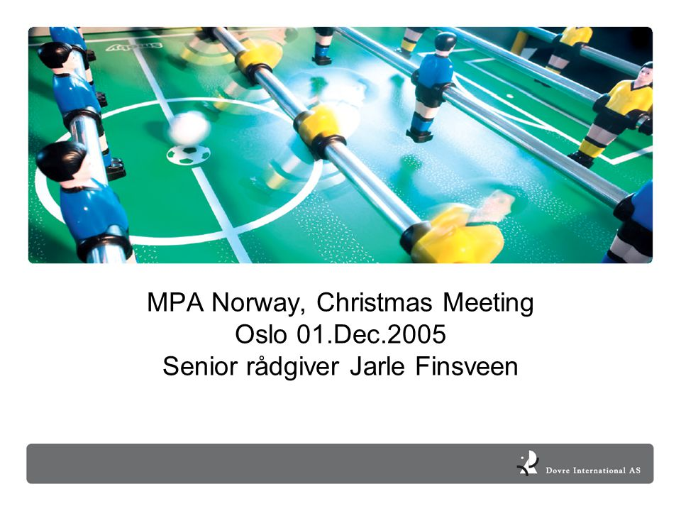 MPA Norway, Christmas Meeting Oslo 01. Dec