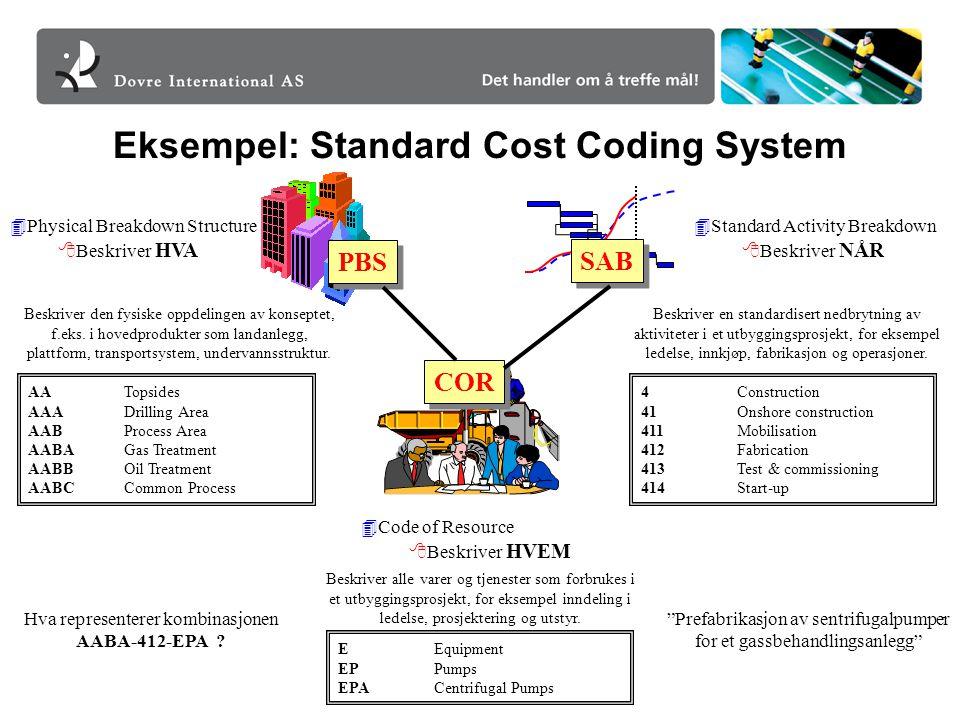 Eksempel: Standard Cost Coding System