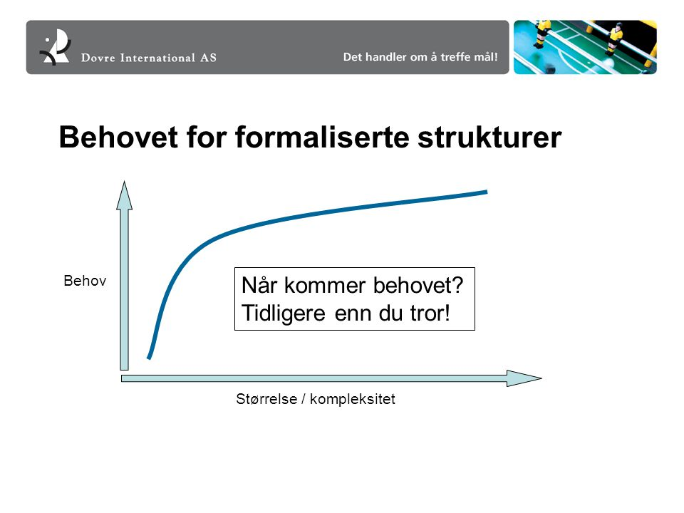 Behovet for formaliserte strukturer