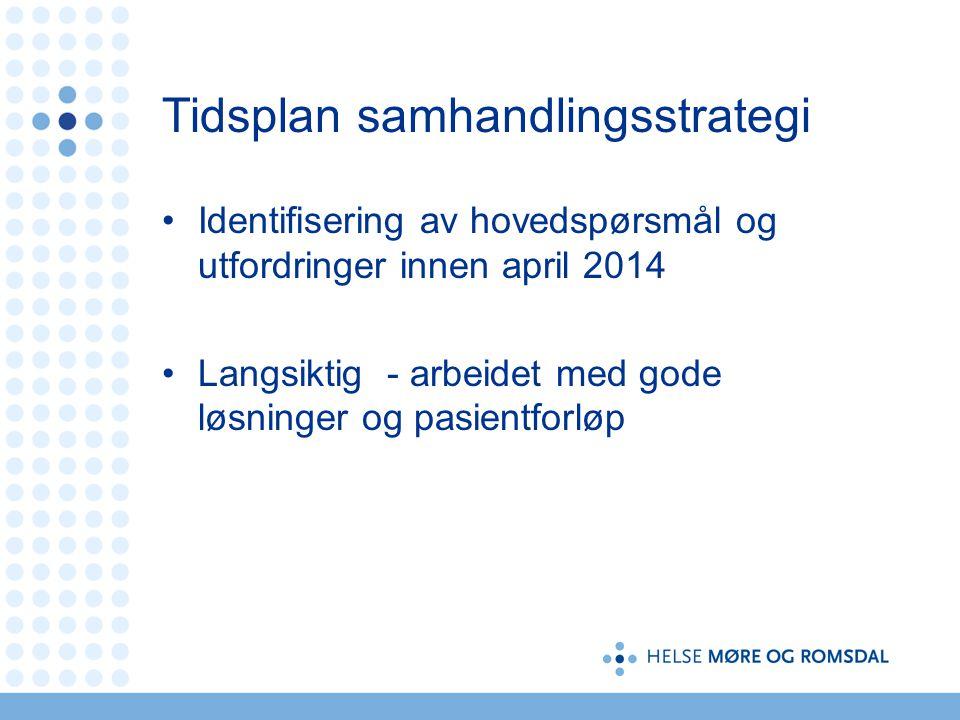 Tidsplan samhandlingsstrategi