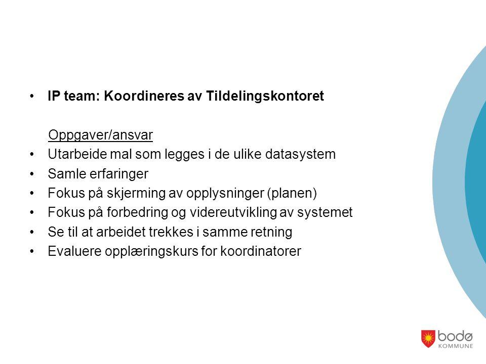 IP team: Koordineres av Tildelingskontoret