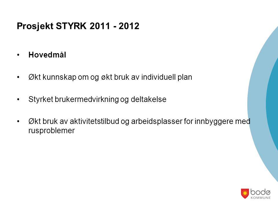 Prosjekt STYRK 2011 - 2012 Hovedmål