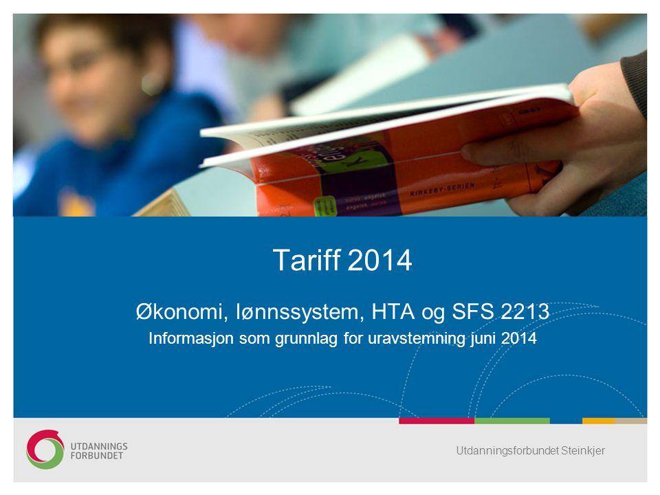 Tariff 2014 Økonomi, lønnssystem, HTA og SFS 2213
