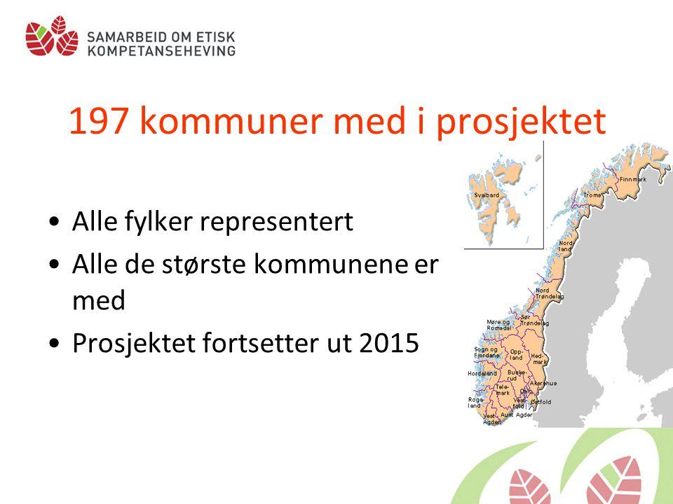 197 kommuner med i prosjektet