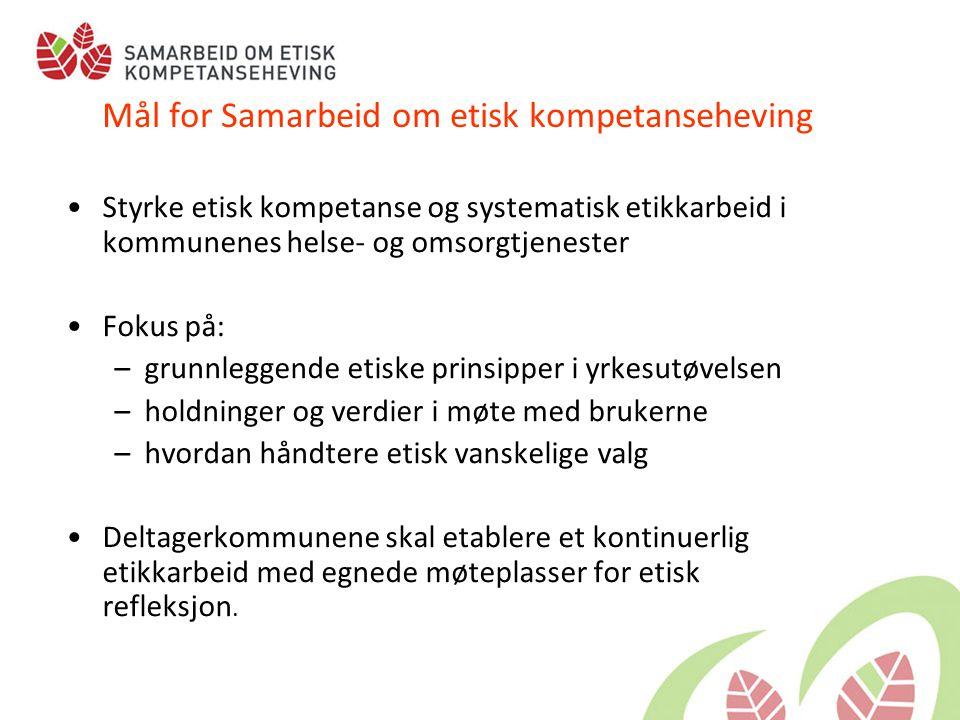 Mål for Samarbeid om etisk kompetanseheving