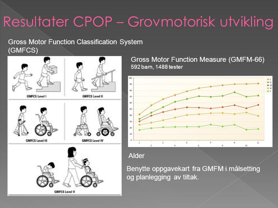Resultater CPOP – Grovmotorisk utvikling