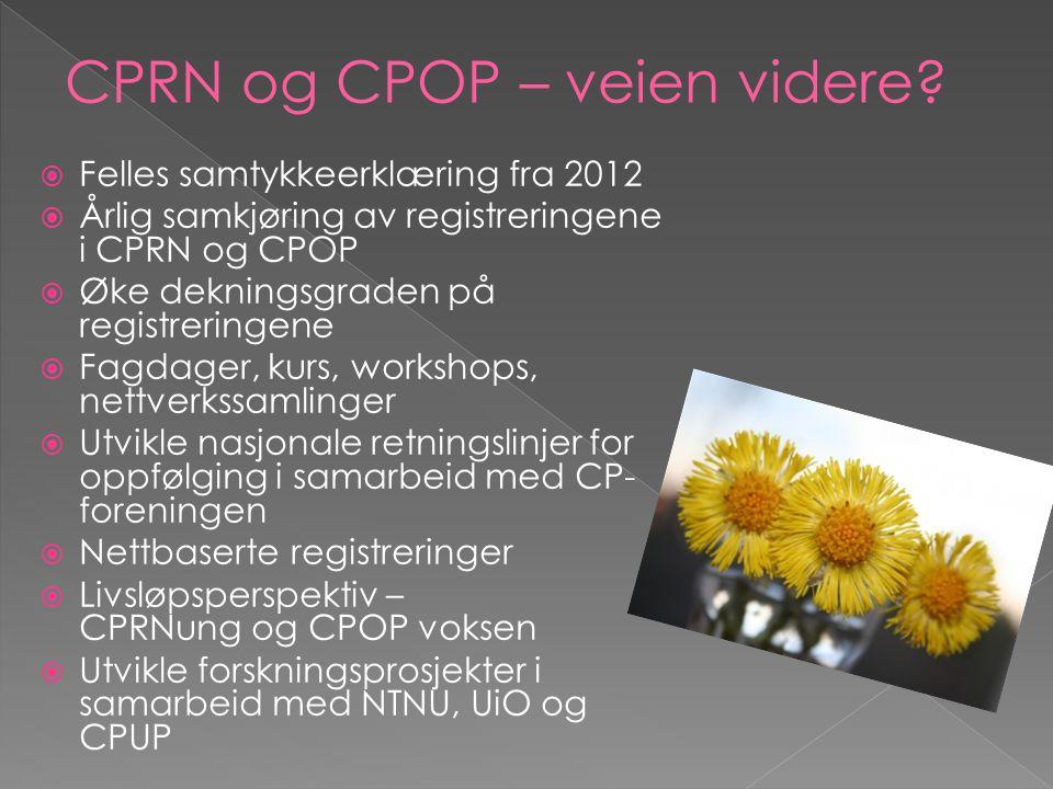 CPRN og CPOP – veien videre