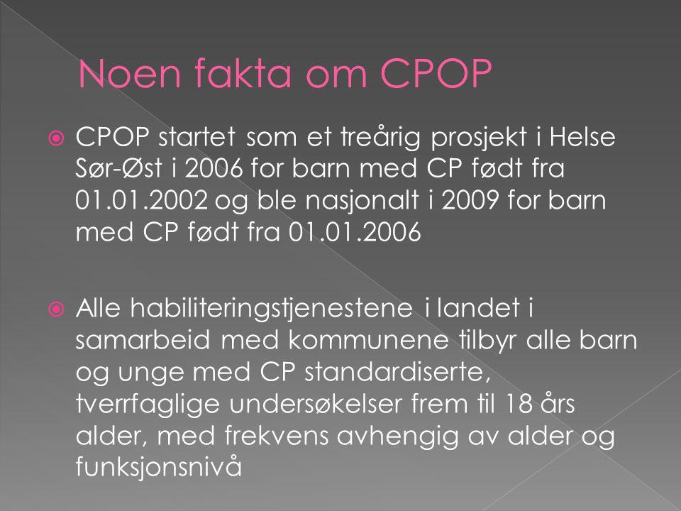 Noen fakta om CPOP
