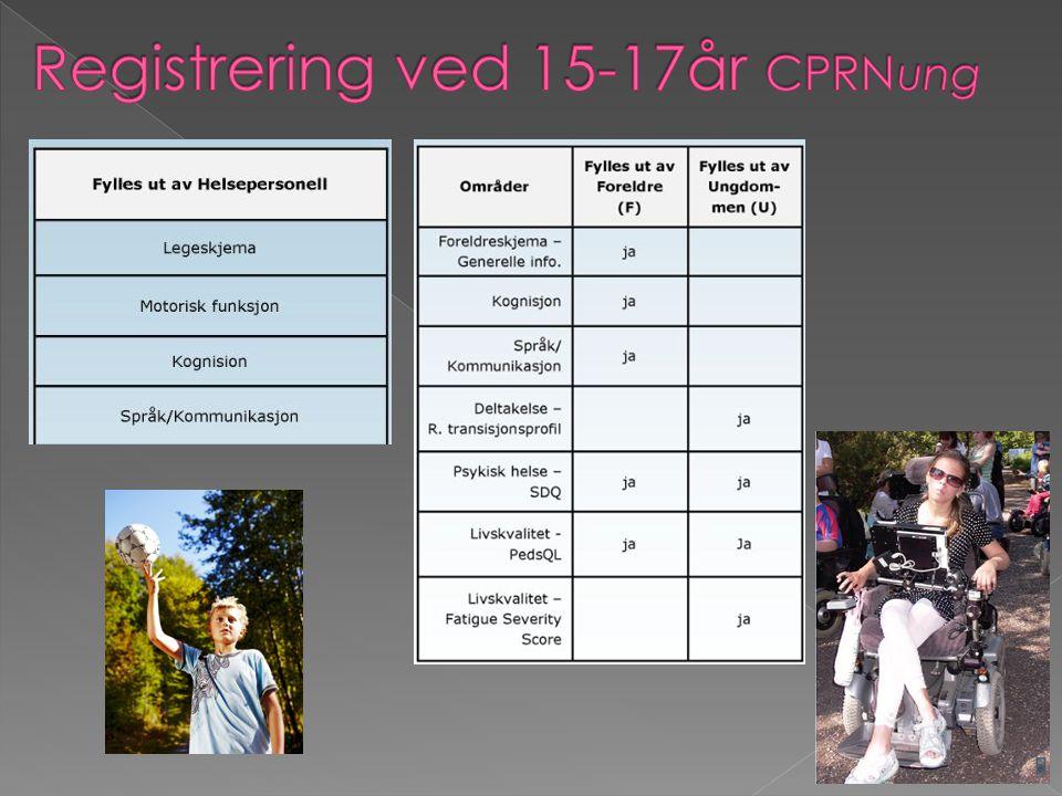 Registrering ved 15-17år CPRNung