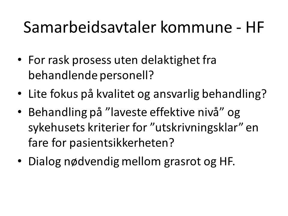 Samarbeidsavtaler kommune - HF