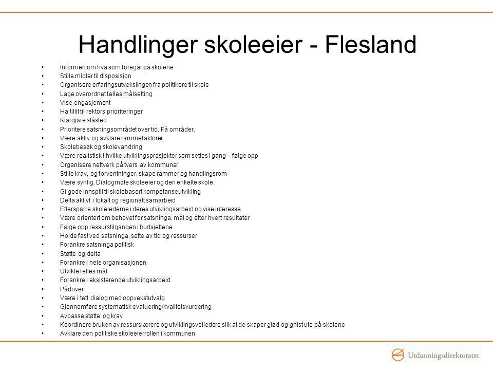 Handlinger skoleeier - Flesland