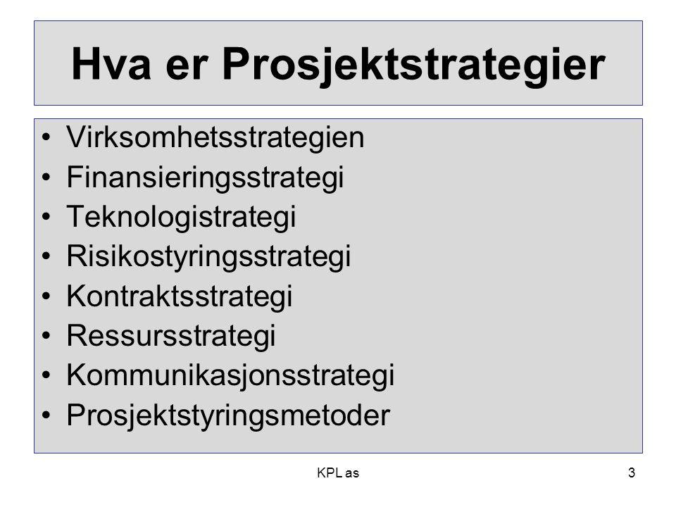 Hva er Prosjektstrategier