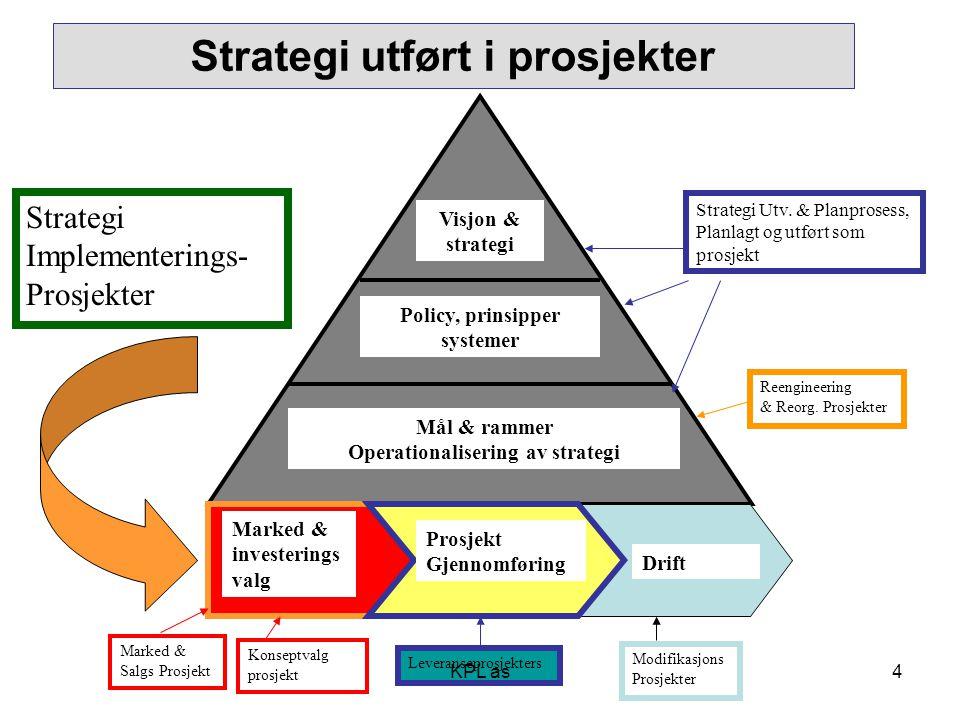 Strategi utført i prosjekter