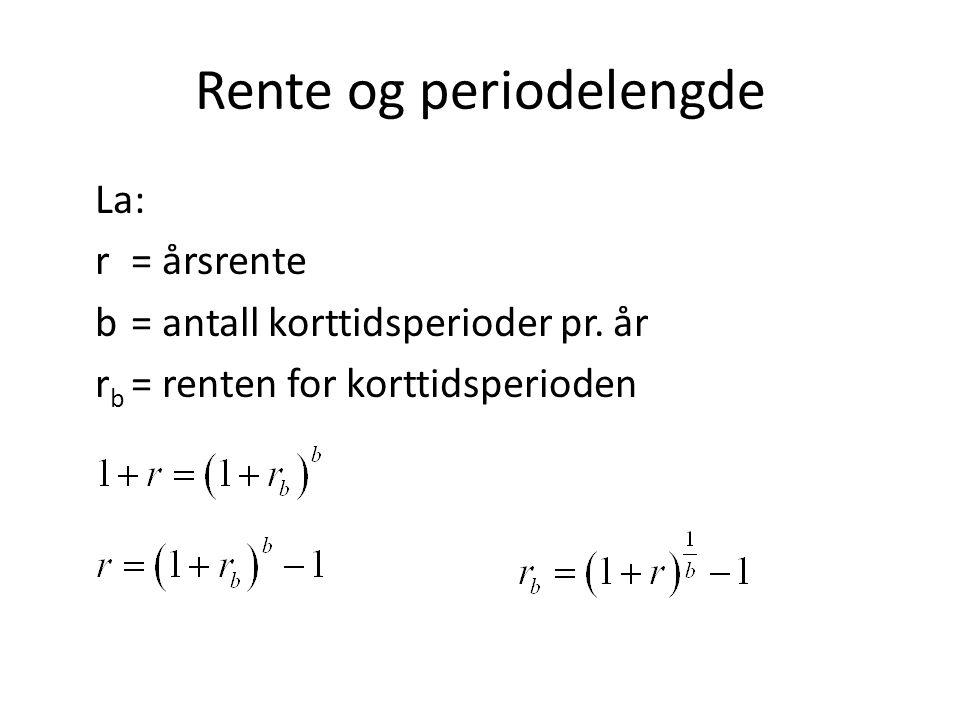 Rente og periodelengde