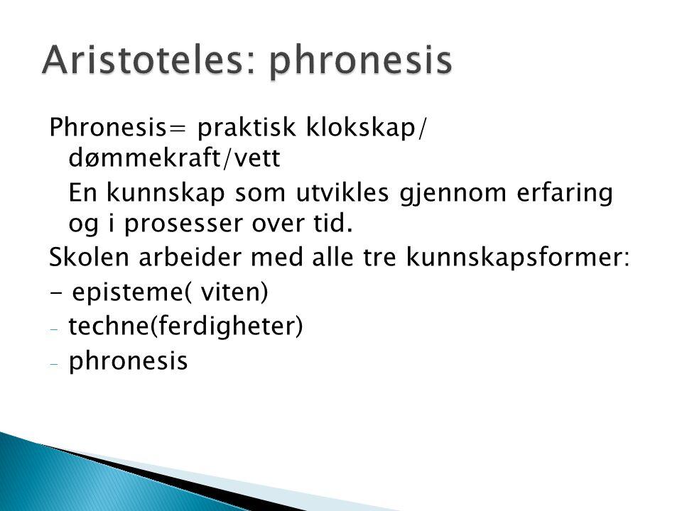 Aristoteles: phronesis