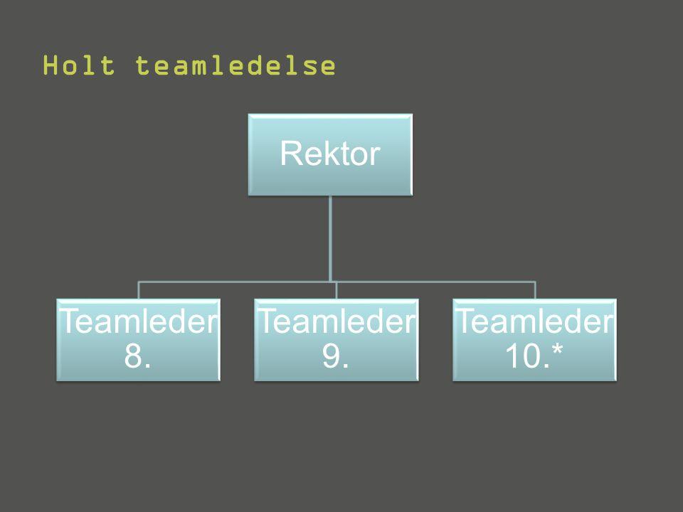 Holt teamledelse Rektor Teamleder 8. Teamleder 9. Teamleder 10.*