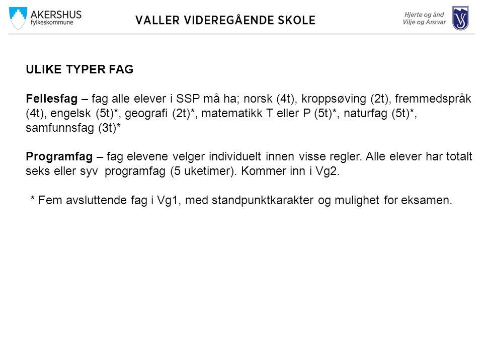 ULIKE TYPER FAG