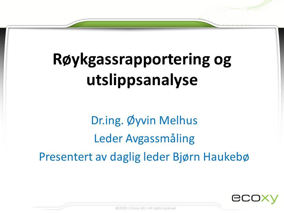 Røykgassrapportering og utslippsanalyse