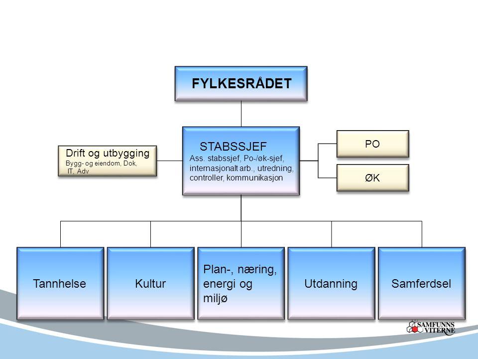 FYLKESRÅDET STABSSJEF Tannhelse Kultur Plan-, næring, energi og miljø