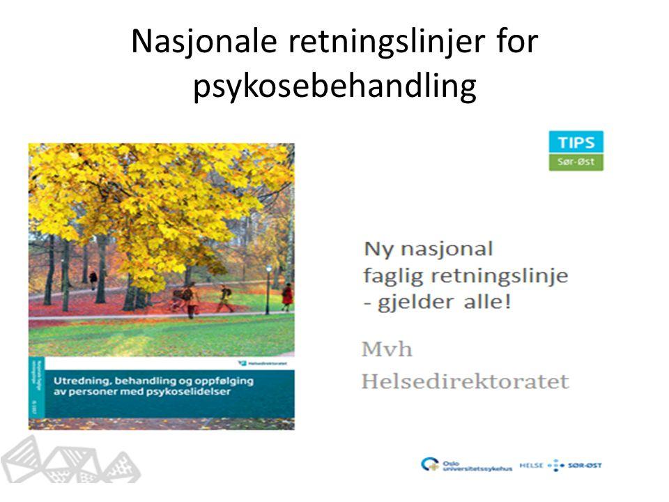 Nasjonale retningslinjer for psykosebehandling