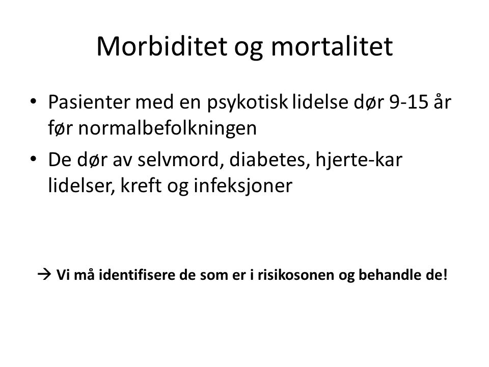 Morbiditet og mortalitet