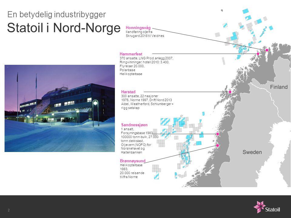Statoil i Nord-Norge En betydelig industribygger