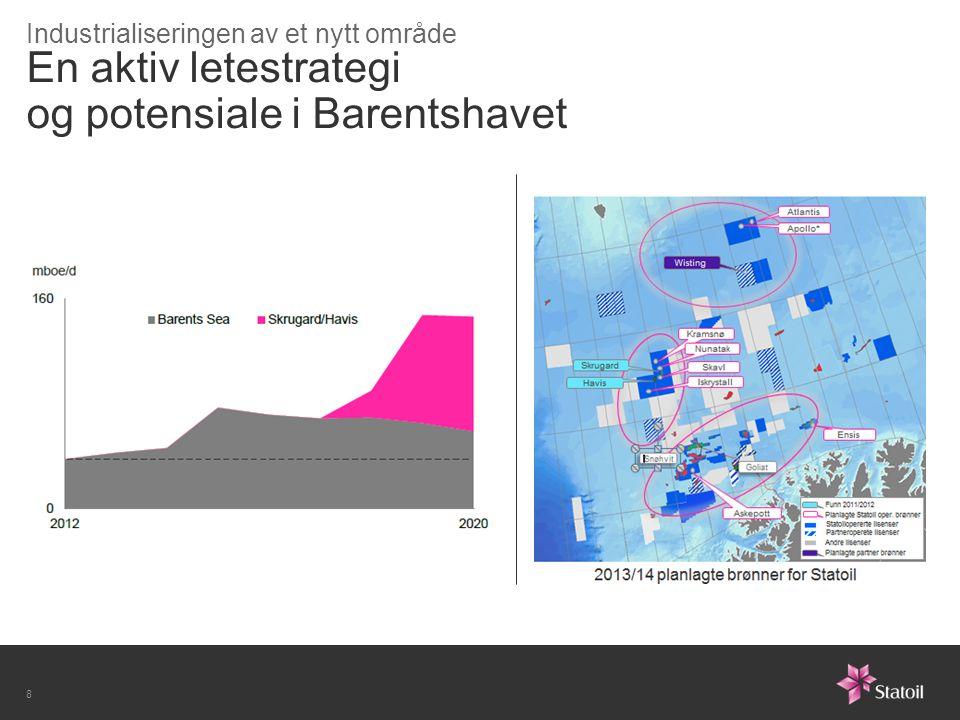 En aktiv letestrategi og potensiale i Barentshavet