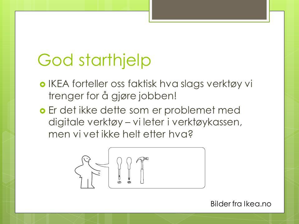 God starthjelp IKEA forteller oss faktisk hva slags verktøy vi trenger for å gjøre jobben!