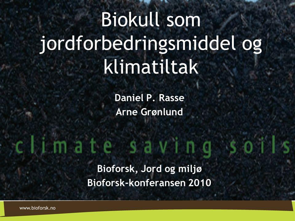 Biokull som jordforbedringsmiddel og klimatiltak