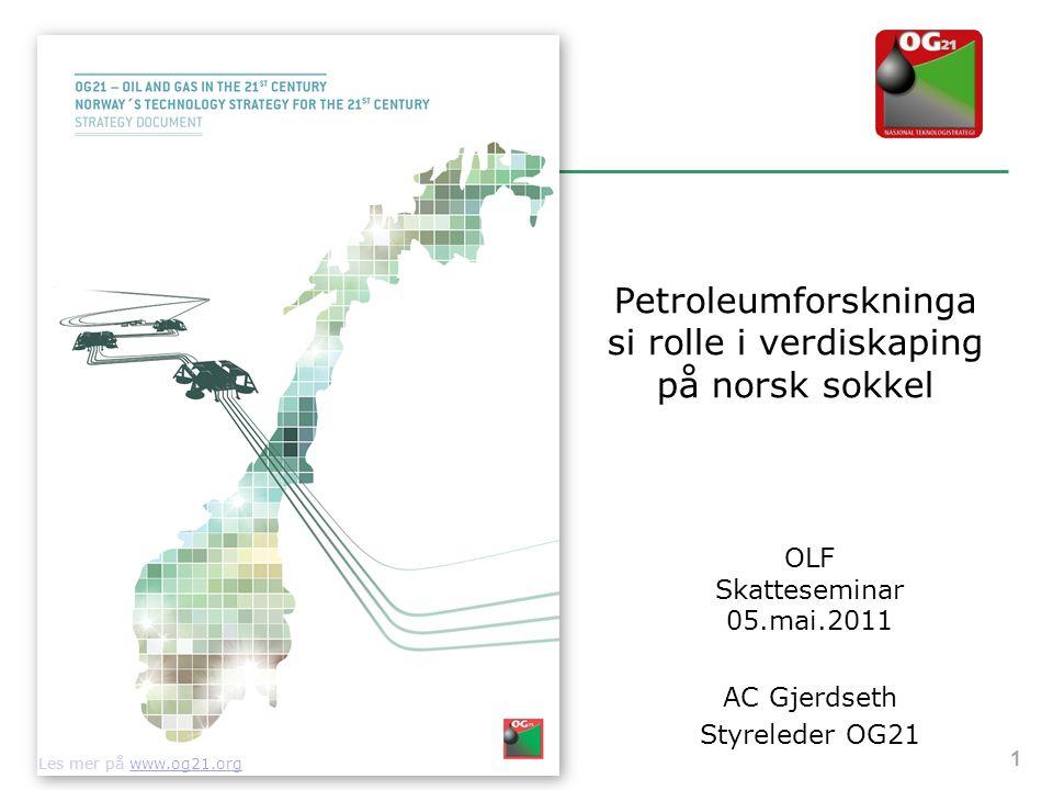 Petroleumforskninga si rolle i verdiskaping på norsk sokkel