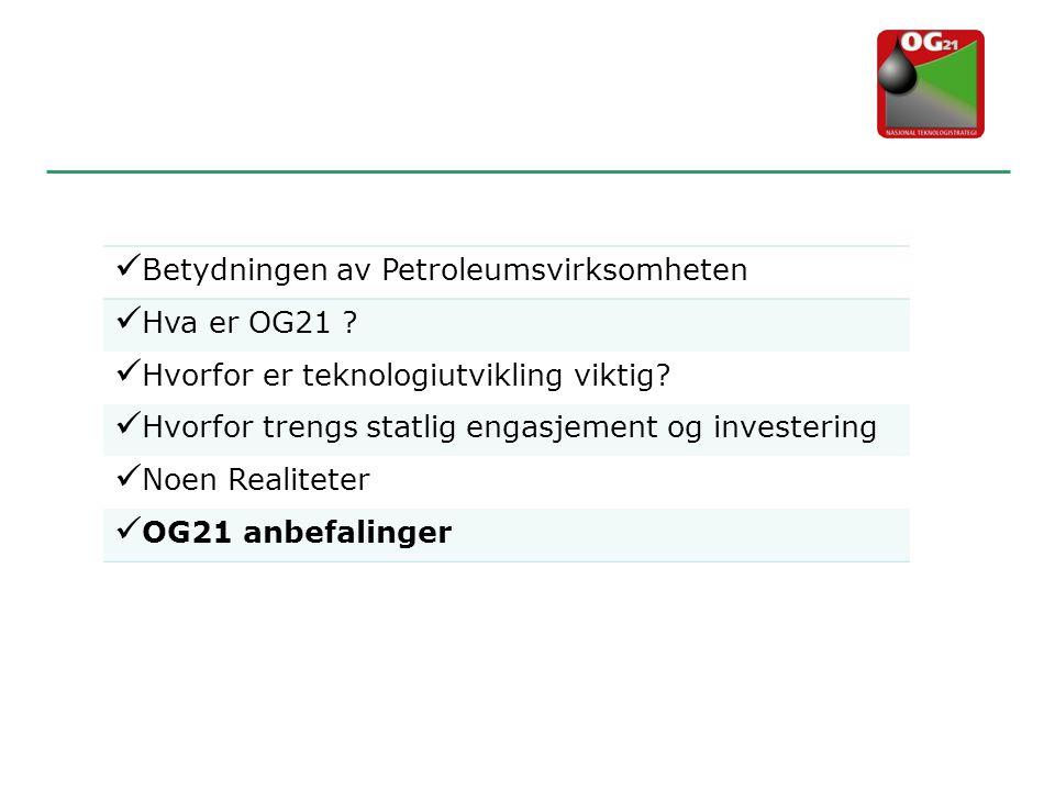 Betydningen av Petroleumsvirksomheten