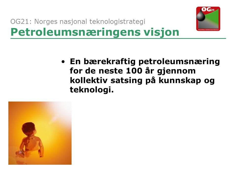 OG21: Norges nasjonal teknologistrategi Petroleumsnæringens visjon