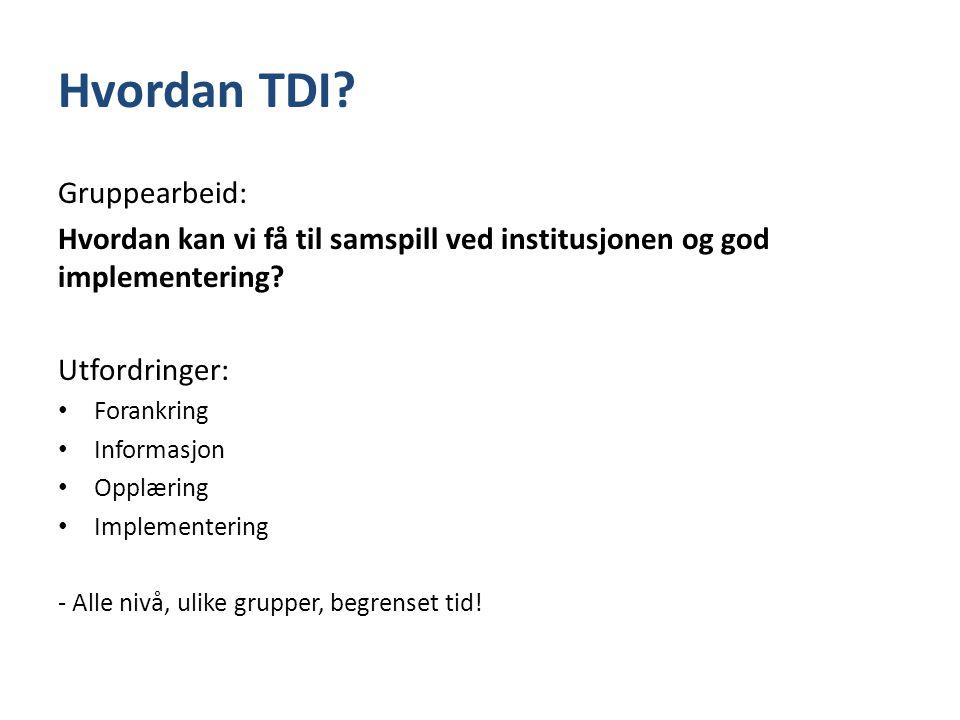 Hvordan TDI Gruppearbeid: