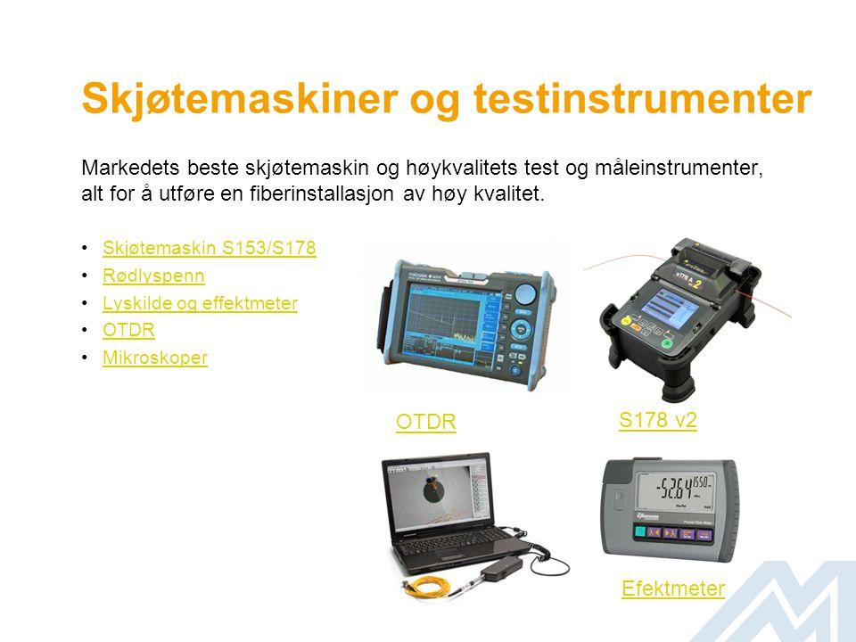 Skjøtemaskiner og testinstrumenter