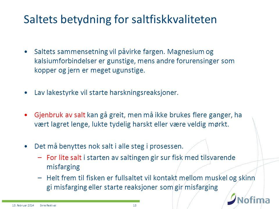 Saltets betydning for saltfiskkvaliteten