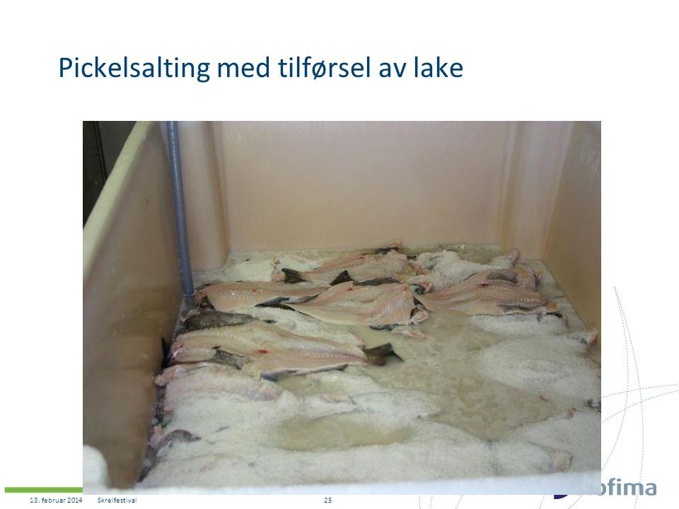 Pickelsalting med tilførsel av lake