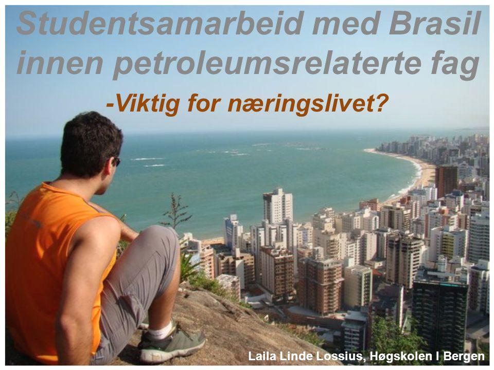 Studentsamarbeid med Brasil innen petroleumsrelaterte fag