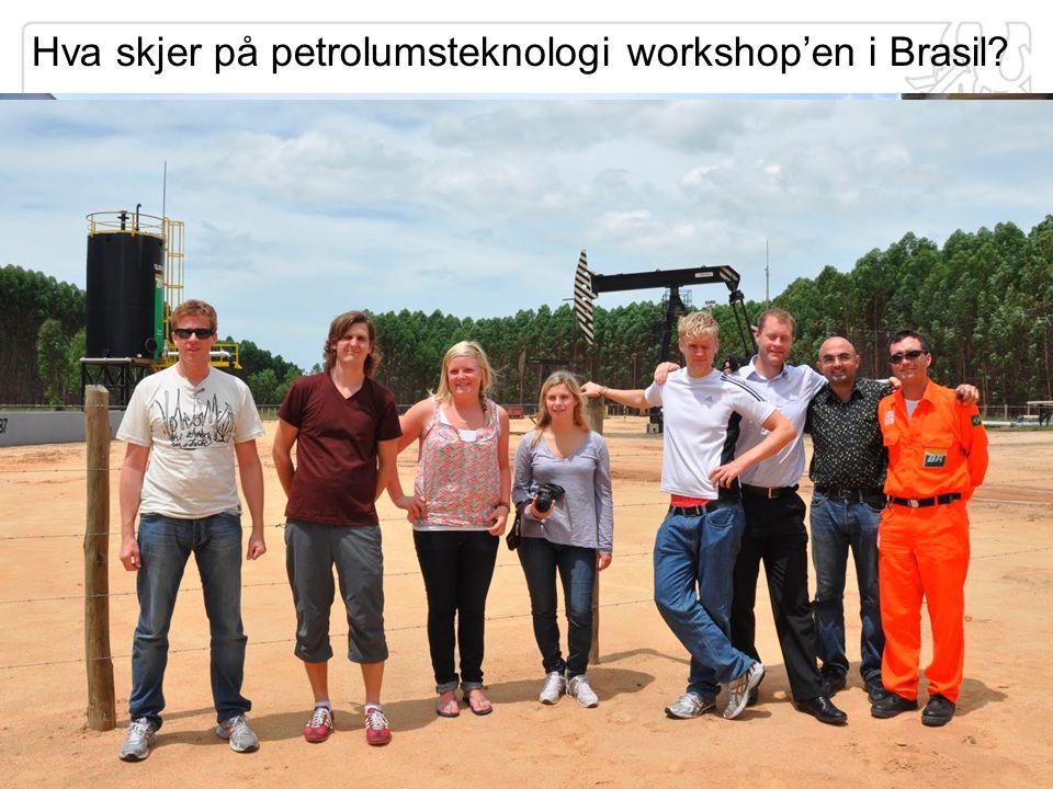 Hva skjer på petrolumsteknologi workshop'en i Brasil