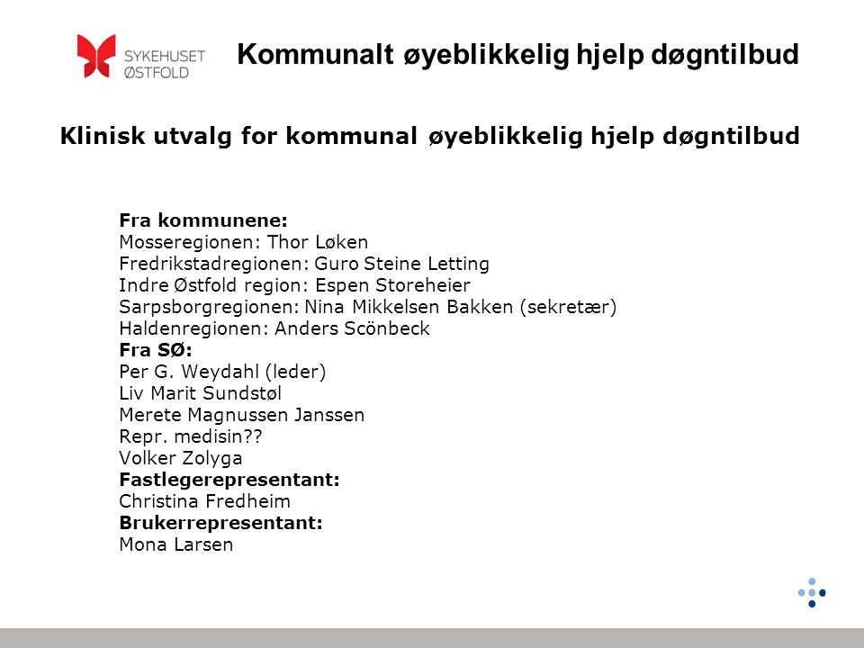 Klinisk utvalg for kommunal øyeblikkelig hjelp døgntilbud
