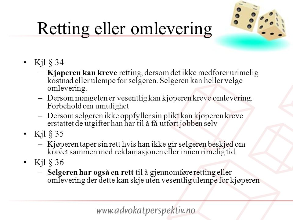 Retting eller omlevering