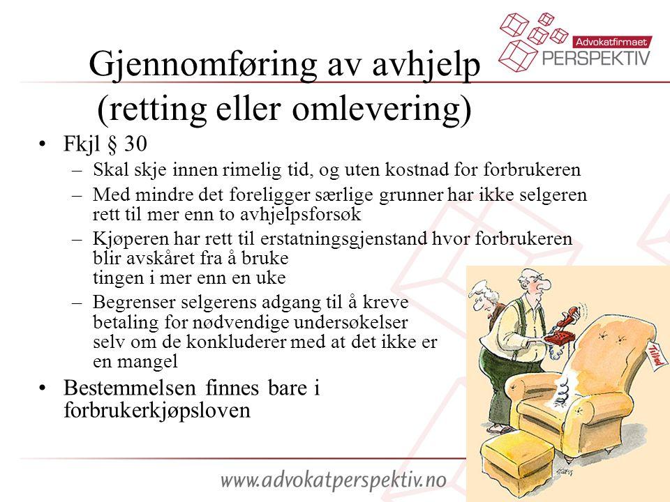 Gjennomføring av avhjelp (retting eller omlevering)