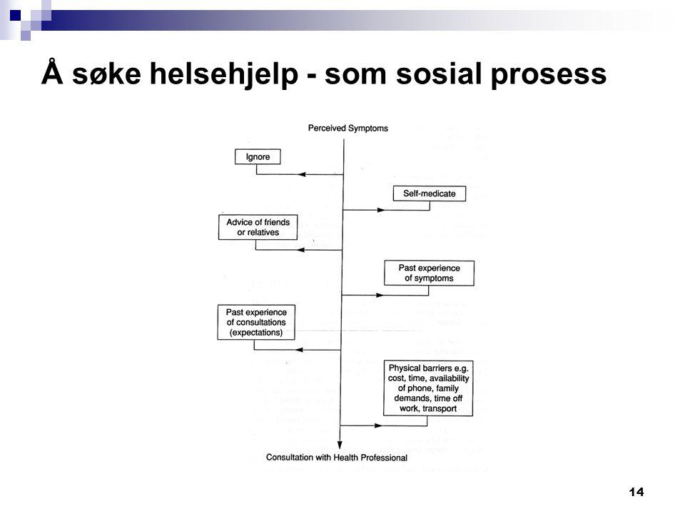 Å søke helsehjelp - som sosial prosess