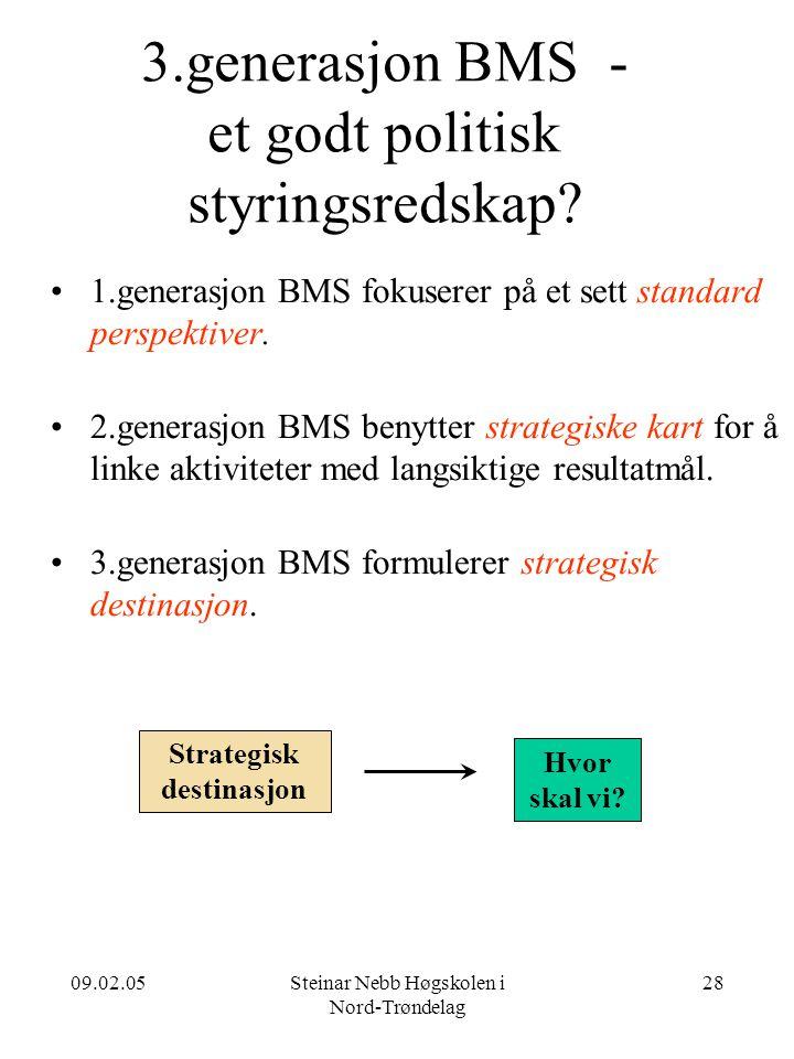 3.generasjon BMS - et godt politisk styringsredskap
