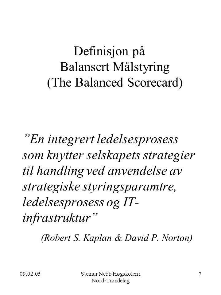Definisjon på Balansert Målstyring (The Balanced Scorecard)