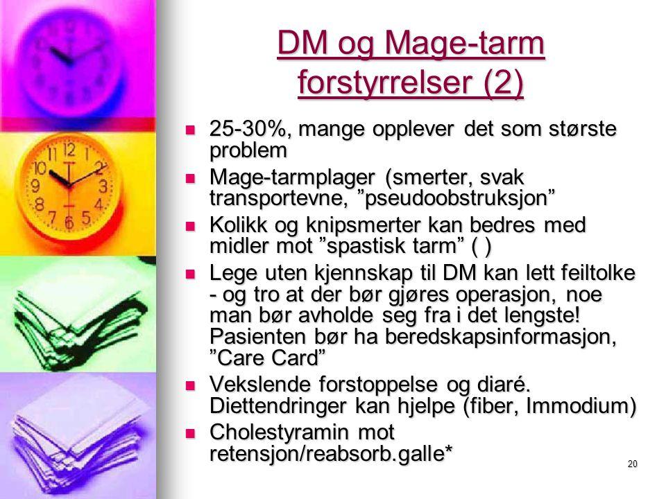 DM og Mage-tarm forstyrrelser (2)